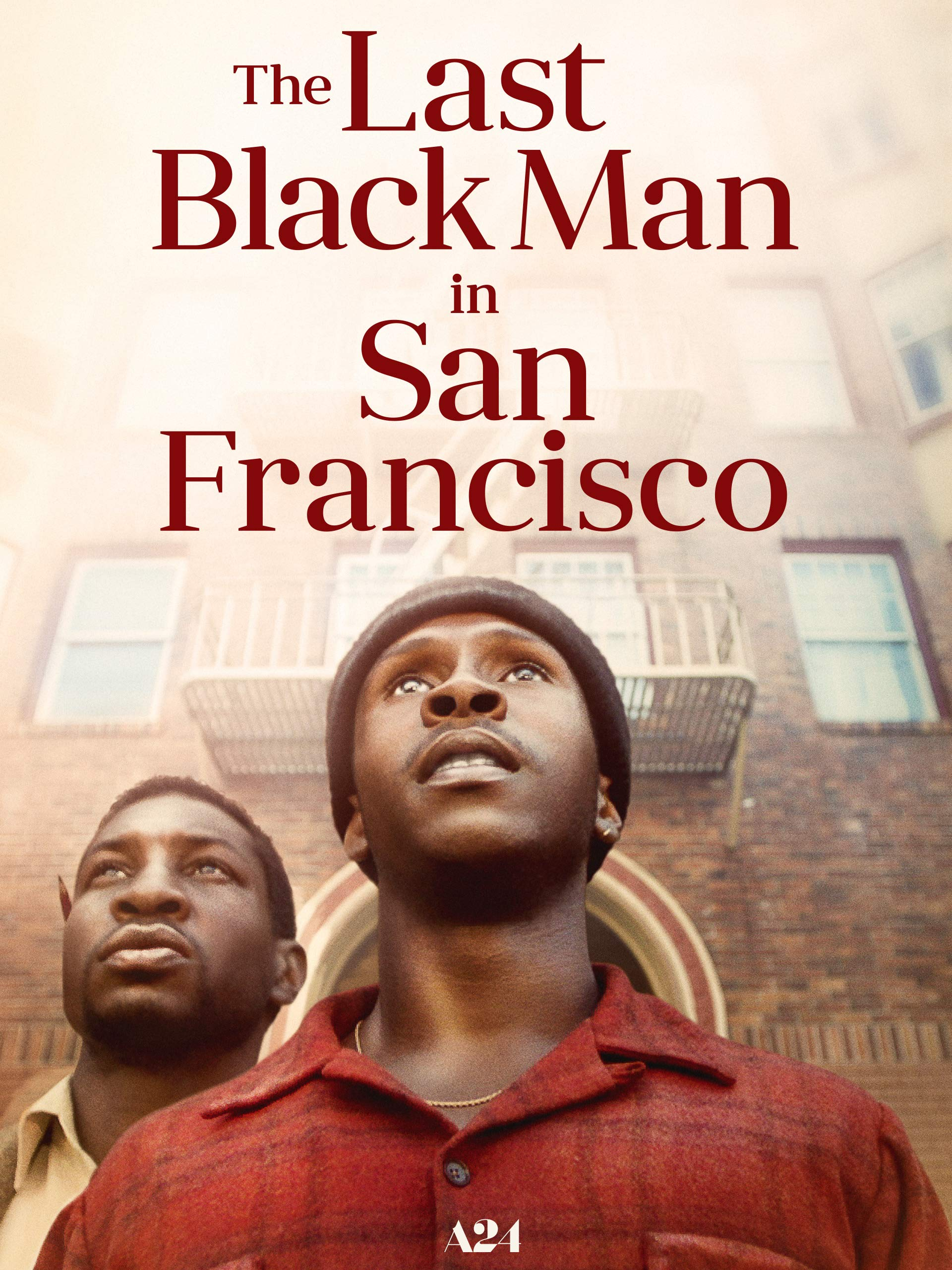 picture of two black men and the last black man in san francisco written in read above them